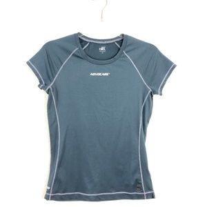 ALO Yoga Cool Fit Gray Short Sleeve Crew Neck FB10